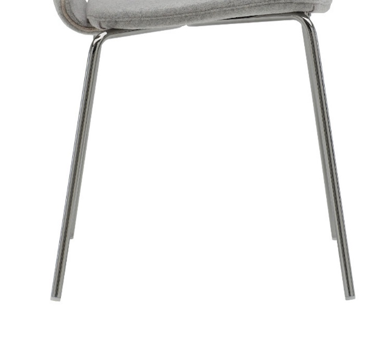 Trivalent chrome four leg base of the Coalesse Wrapp Chair