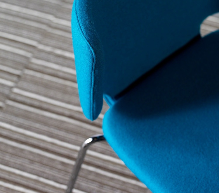 Contoured seat detail of the Coalesse Wrapp Chair