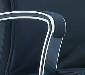 chrome armrest of the Chord conference chair