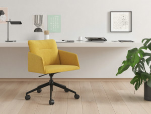 yellow Marien152 conference chair with 5-star base