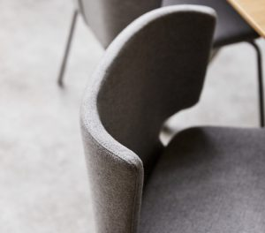 Close up of Wrapp Chair winged back
